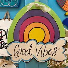 Good Vibes Wood Cutout