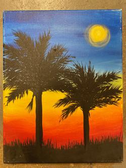 Palmetto Sunset Canvas