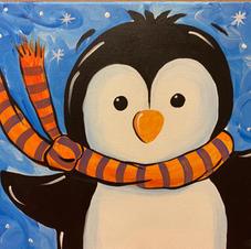Snowy Penguin Canvas