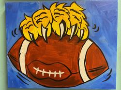 Wildcats Football Canvas
