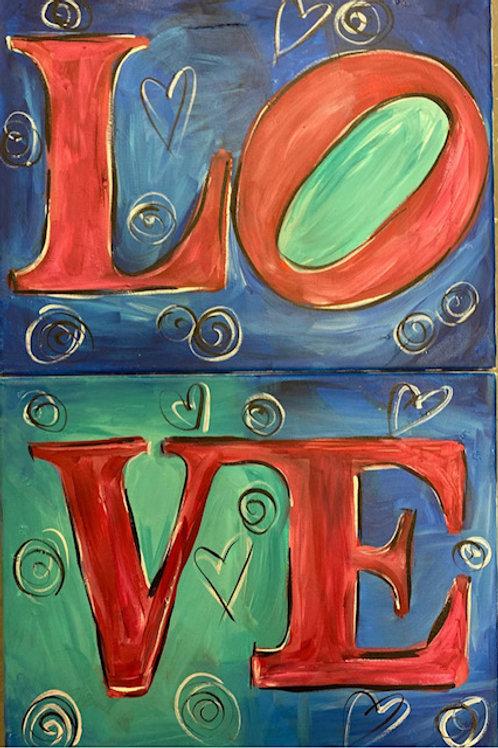 Saturday, September 11, 6:30pm LOVE Canvas--Single Canvas or Date Night!