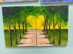 Heart Trees Canvas