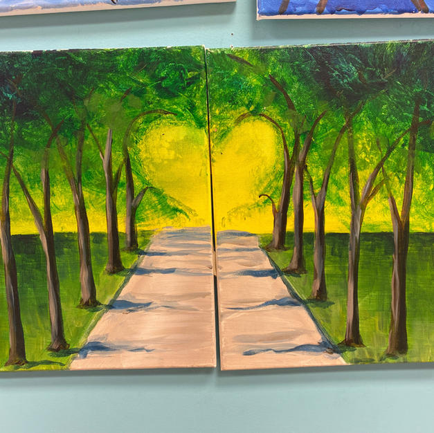 Trees with Heart Date Night Canvases