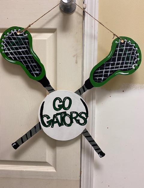#137 Lacrosse Sticks Wood Cutout