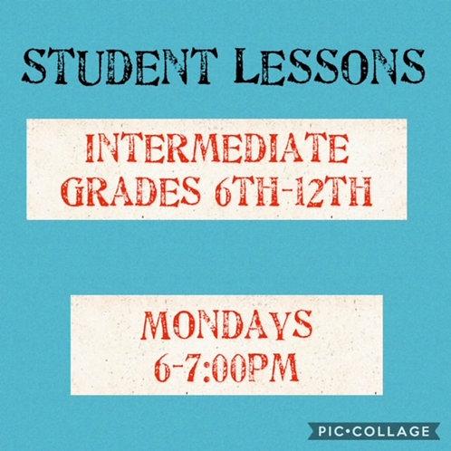 Intermediate Small Group Art Lessons Mondays 6-7pm