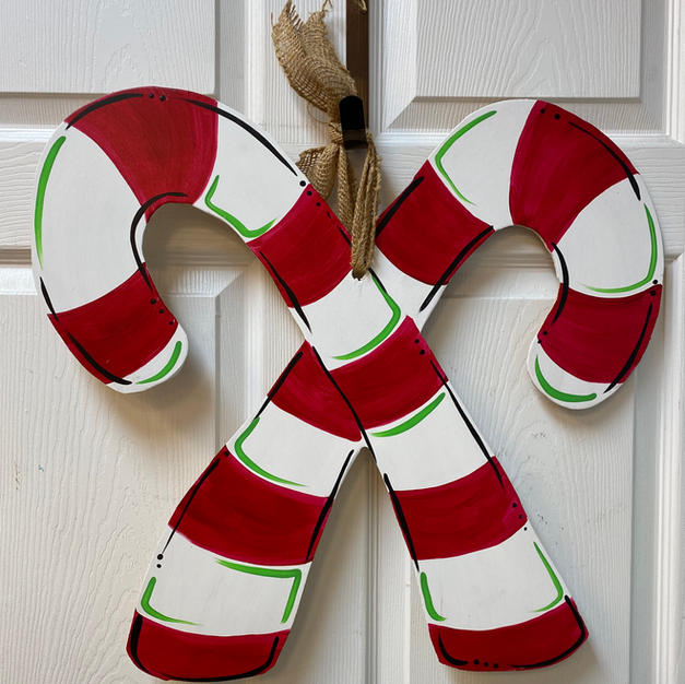 #74 Candy Canes Wood Cutout