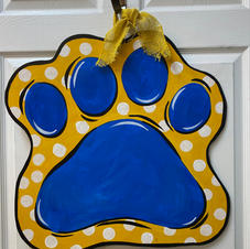 #126 Wildcat (or Panther!) Paw Wood Cutout