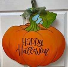 Pumpkin with Twisty Stem Wood Cutout