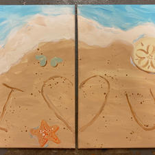 Beach Sand Date Night Canvases