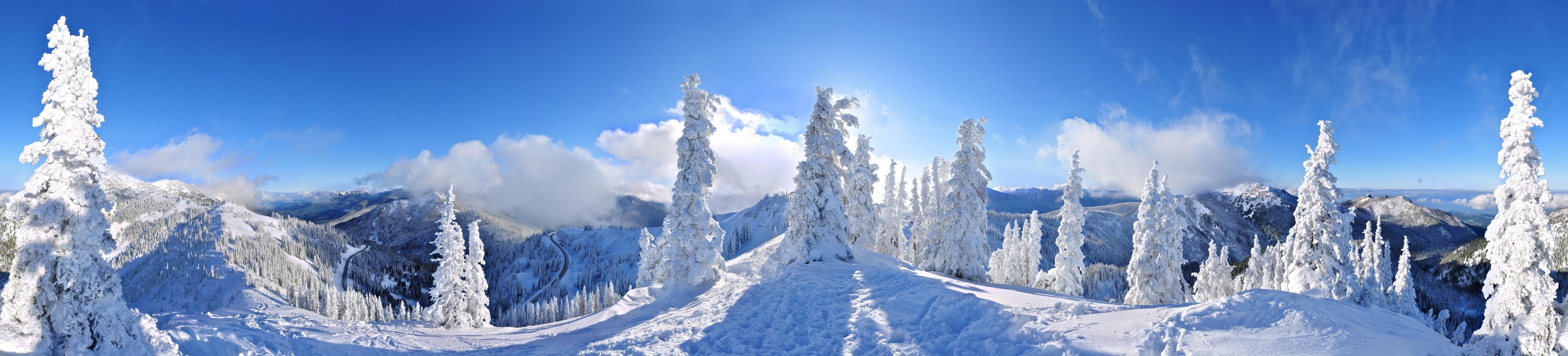 Рождественские праздники в горах