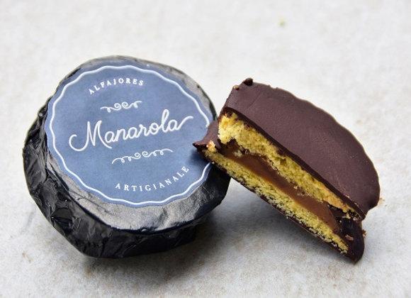 Alfajor de chocolate con cobertura de cacao 70%