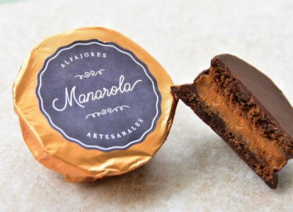 Alfajor de Chocolate Cubierto con Chocolate Oscuro