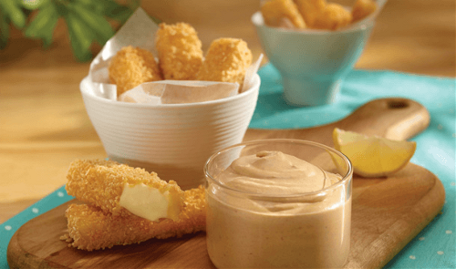 Chipotle Dip for Cheese Sticks.