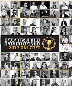 נבחרת אדריכלים ומעצבים מומחים 2017