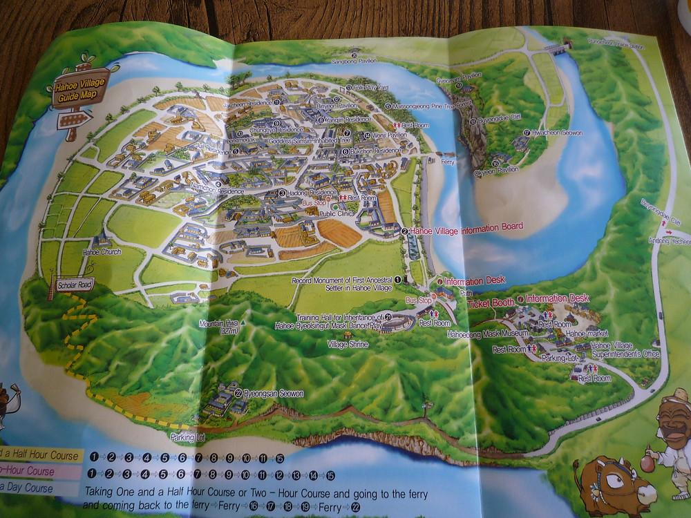 Plan du village de Hahoe