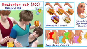 Hamburger Set (ACC/Decor)