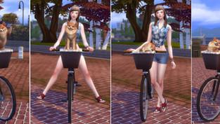 Bicycle Poses-Me & Dog(Msize)