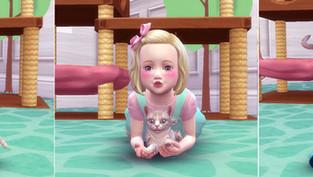 Toddler & Kitten Pose 2