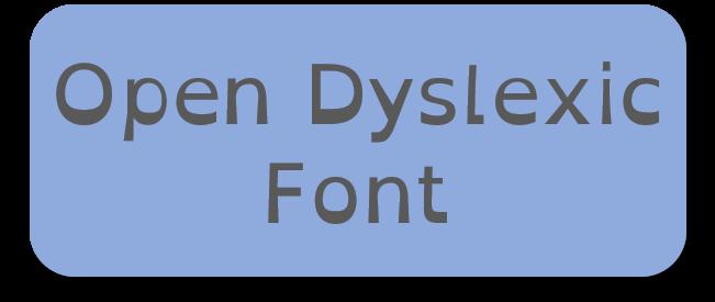 Fonte open dyslexic