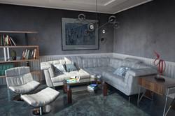 הדמיה חדר מגורים 1