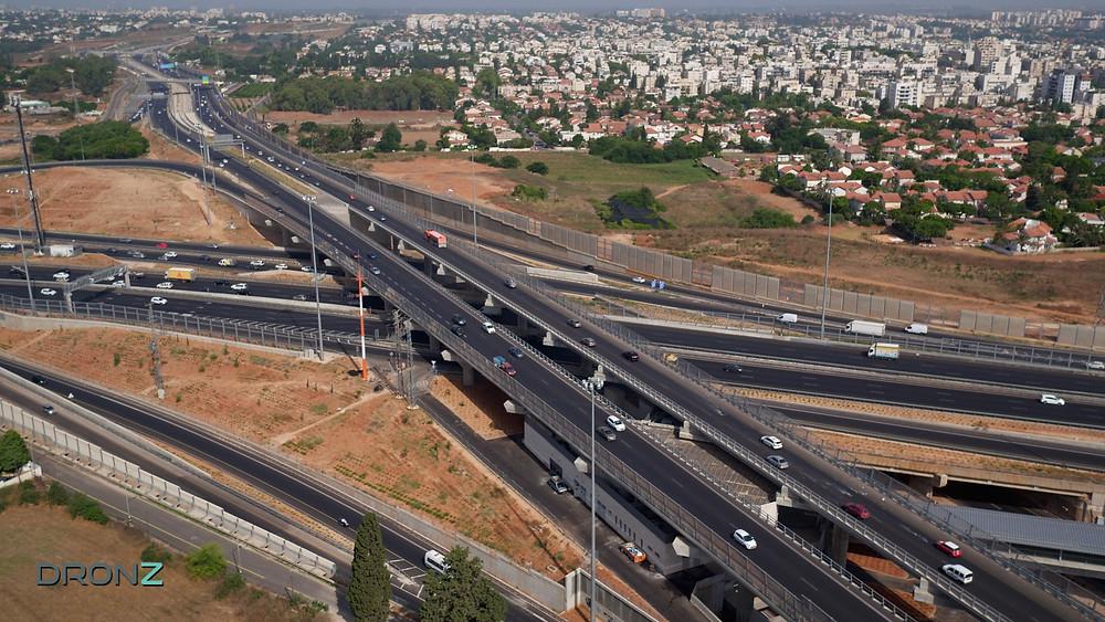 צילום אווירי תשתיות נתיבי ישראל