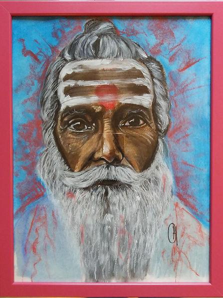 Saddhu Varanasi pastel
