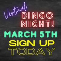 Virtual Bingo Night - Friday, March 5th