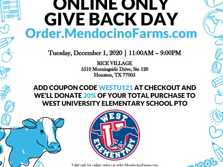 WUES Spirit Day AND Night: 12/1 at Mendocino Farms - Rice Village
