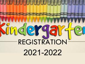 NOW OPEN:  Kindergarten Registration Information for 2021-2022