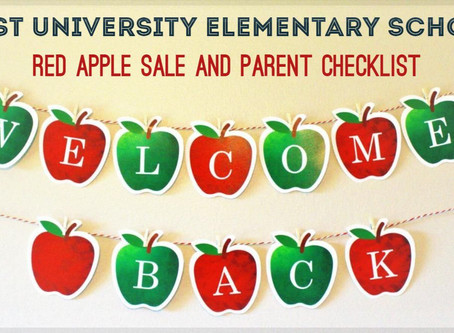 IMPORTANT! Red Apple Sale & Back to School Parent Checklist