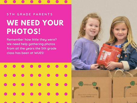5th GRADE PARENTS:  Photos Needed!