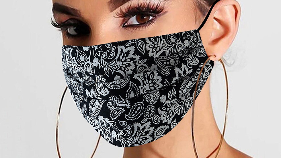 Adjustable, Dustproof,  Washable, Cotton,  Mascarilla Floal  Adult  Face Mask