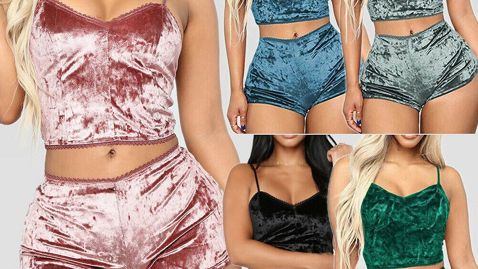 JSUW 2 Pcs Velvet Pajamas Set