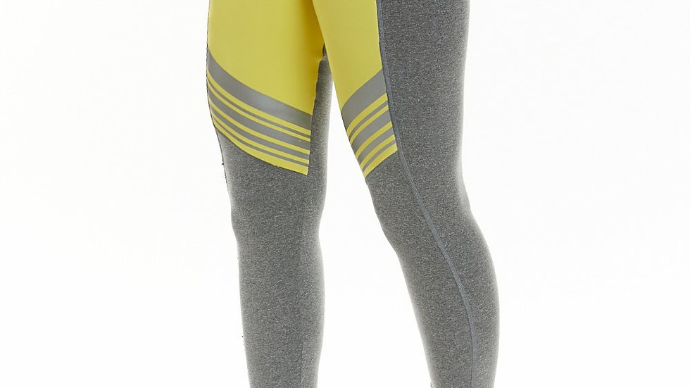 Woman's Yellow High Waisted Legging - Tech