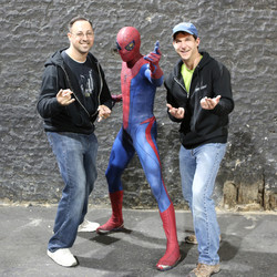 With Spidey and George