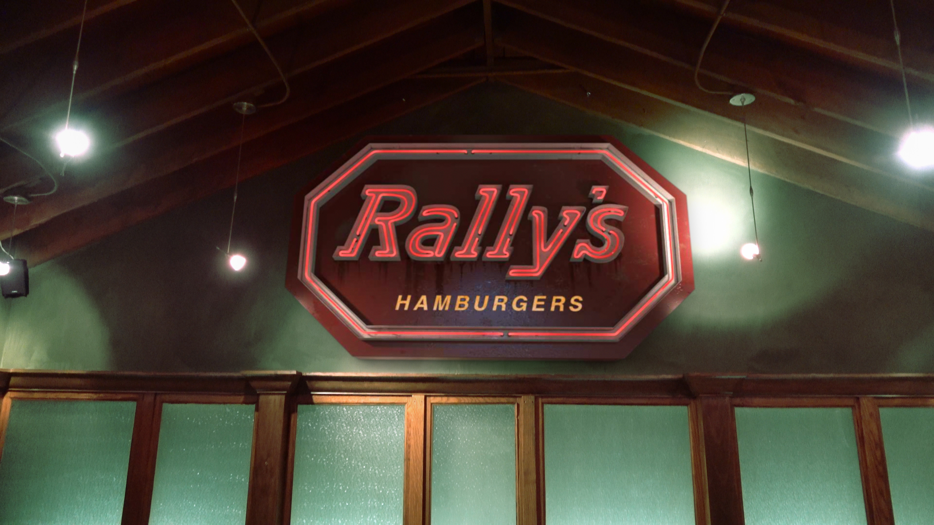 Rally's Burgers Neon Sign