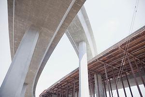 Precast concrete bridge highway construction