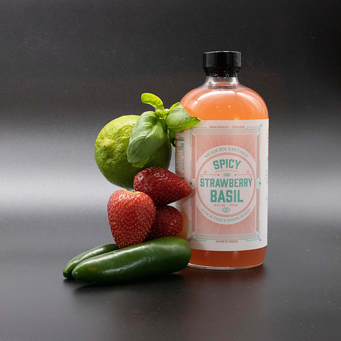 SPICY STRAWBERRY BASIL COCKTAIL MIXER