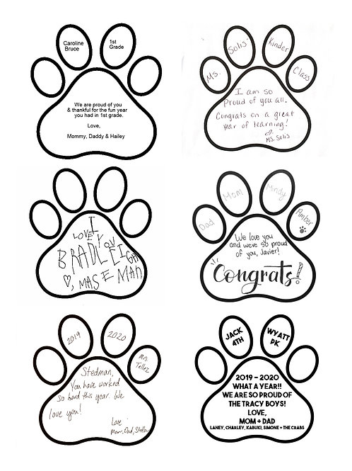 Yearbook Paw Print 2020-2021