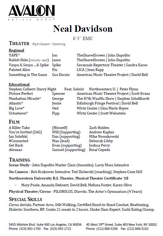 Neal Davidson - Resume
