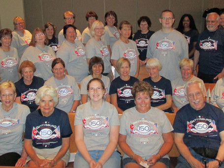 Choral Members getting ready for 2013 150th Anniversary of the Civil War