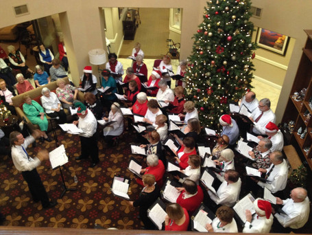 Performing at the FountainView Village at Christmas 2014