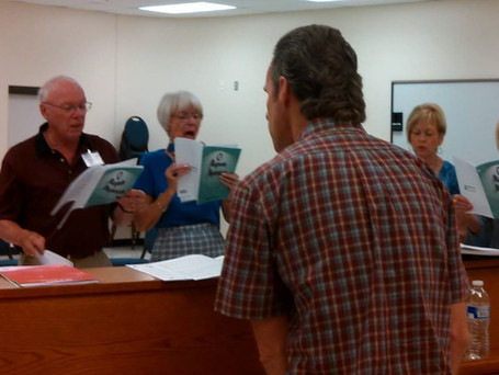Chamber Singers practice