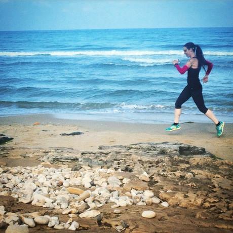 אימוני ריצה בים#