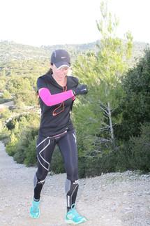 לימור ביגון במהלך אימון ריצה