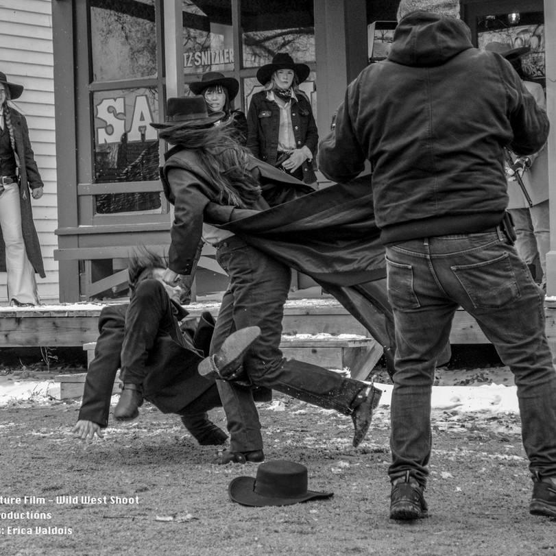 Behind the scense of filming hte feature film Vengeur by RetroHawk Productions Mid-MO Based Film Company