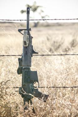 gripstop inforce ar15 rifle in field