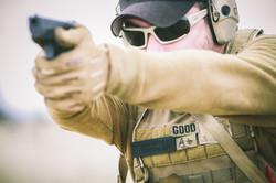 firing glock 9mm plate carrier