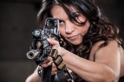 girl shooting ak47 vepr 54r eotech