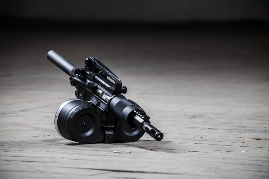 ar15 pistol 100rd drum magazine SBR